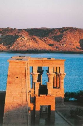 Philae Temple at sunset 7